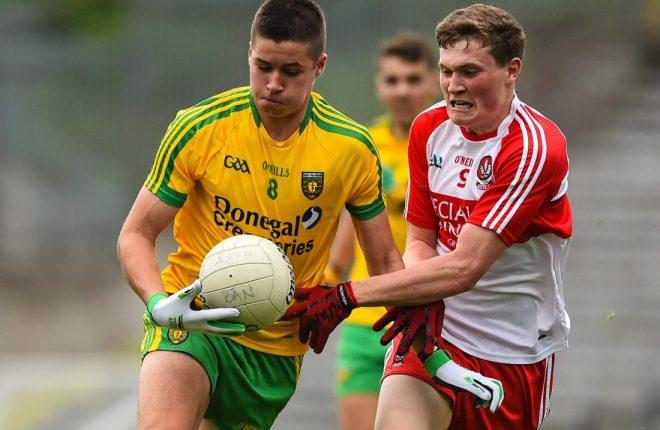 Donegal minor Brendan McCole was a key player in Abbey Vocational Schools semi-final win