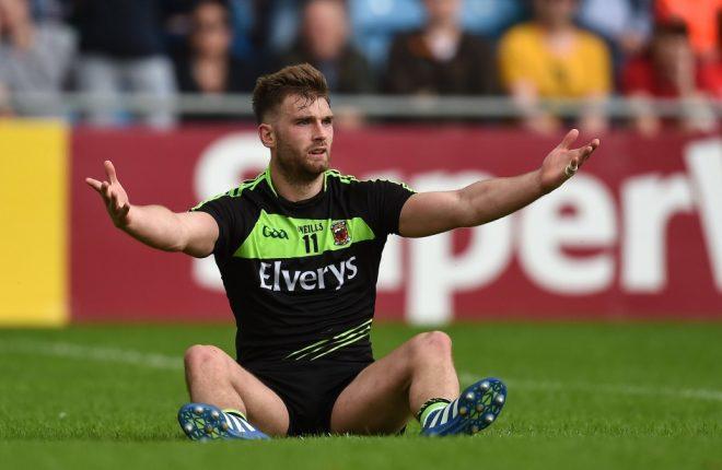 Mayo's Aidan O'Shea appeals for a penalty