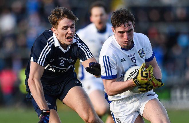 Niall Clerkin in possession for Cavan against Dublin in Breffni Park
